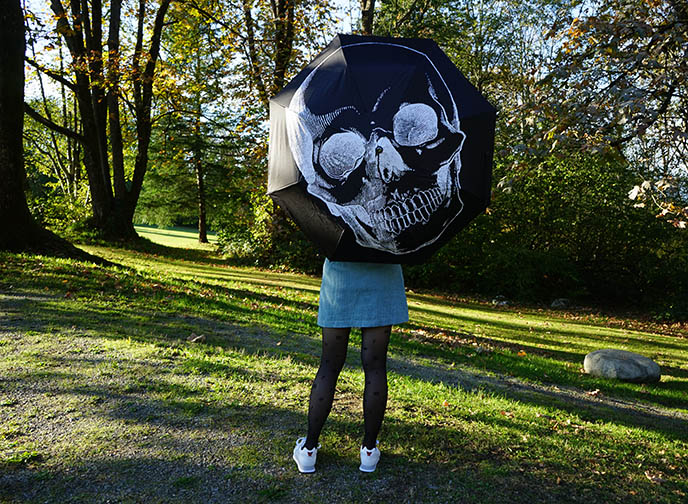Sugar Skull Umbrella, gothic umbrellas