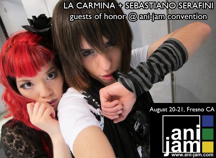 ANI-JAM ANIME CONVENTION IN FRESNO, CALIFORNIA: JOIN US! MANGA JAPANESE CONVENTION GUESTS OF HONOR, FANART. la carmina new york comic convention, ny comic con, how to be invited guest at anime convention, rates, panels, anime cons in los angeles, ax, anime expo, panelists, lolita tea party, lolita meetups, egl, gothic lolitas.