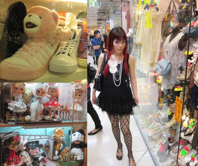 Hong Kong Shopping: GOTHIC LOLITA SHOP SPIDER IN HONG KONG. SHOPPING IN