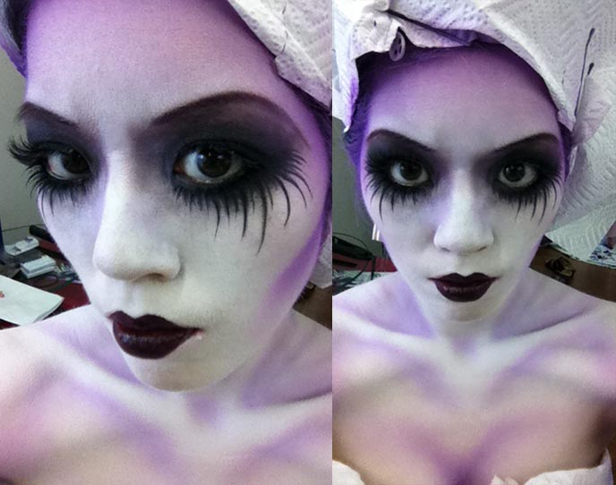 CORPSE BRIDE HALLOWEEN GOTH MAKEUP FULL BODYPAINT AIRBRUSHING LA CARMINA FOR GOTHIC ALT NOIR ...