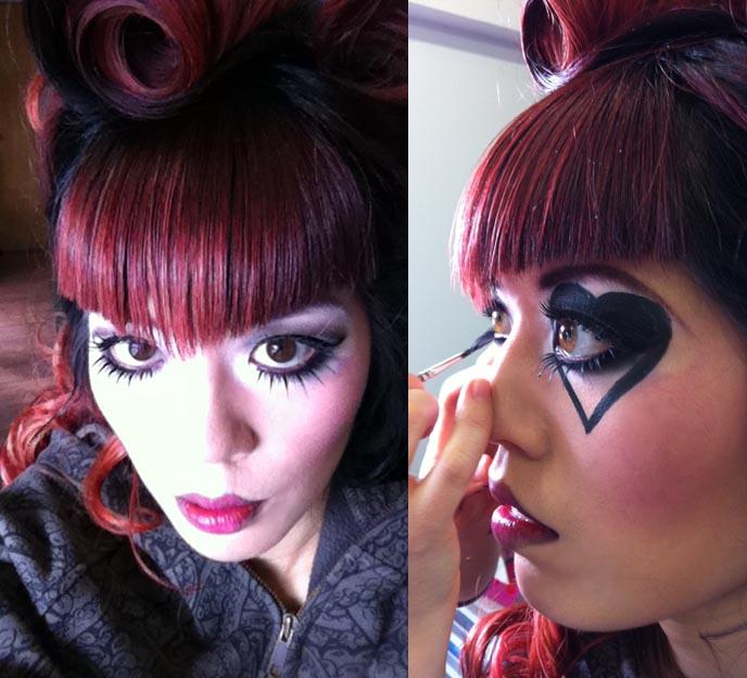 La Carmina On Alt Noir Goth Magazine Cover Gothic Beauty: PIRATE PIN-UP GIRL PHOTOSHOOT. PROFESSIONAL GOTHIC MAKEUP
