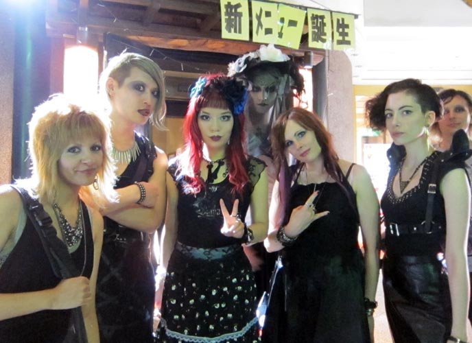 japan tokyo street fashion gothic dark metal cyber bars clubs dancing nightlife christon cafe nigthclubs japanese alternative goth lolita gothiclolita industrial music ebm dance parties events tokyo decadance dj sisen midnight mess lacarmina kawaii style