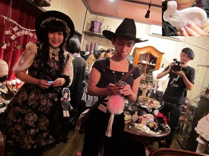 kawaii tv, nhk, japanese television, japan national broadcaster, kawaii tv show, cute girls tv host, NEW DARK PURPLE DYED HAIR COLOR & STYLE! NHK KAWAII TV SHOOT AT ABILLETAGE, VINTAGE GOTHIC LOLITA CORSET SHOP. Tokyo corsets, handmade secondhand clothes, best vintage stores tokyo japan, vintage shopping, tokyo fashion diaries, koda kumi costumes, ayumi hamasaki outfits, dolly kei