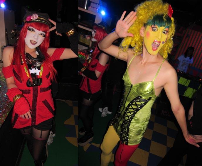 TOKYO DECADANCE BAR, CHRISTON CAFE: JESUS CHRISTIAN CHURCH THEMED RESTAURANT, CYBER GOTH RAVE BAR. tokyo underground scene, tokyo damage report, decabar, decadance bar, adrien le danois, gothic lolita girls japan, lolitas, drag queens, transsexual fashion, japanese drag, crazy makeup, shinjuku tokyo bars, shinjuku clubbing