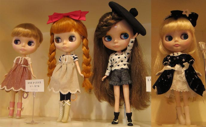 Cute japanese dolls are
