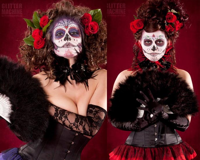 Day of dead sugar skulls makeup, dia de los muertos, MAZATLAN, MEXICO FOR HALLOWEEN & DAY OF THE DEAD! HEAVY RED ALICE IN WONDERLAND, HIGH QUALITY GOTHIC COSTUMES. travel tourism board video, mazatlan attractions, mexican goths, halloween events mexico, best halloween costumes, designer costumes, day of dead celebration, mazatlan festivals, gran fiesta des amigos, press trips journalists, press junkets, free travel tips
