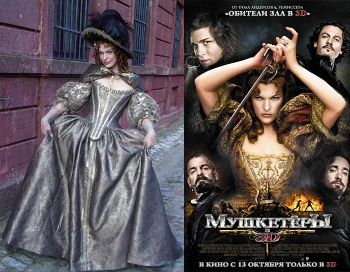 THREE MUSKETEERS MOVIE: STEAMPUNK ROCOCO FASHION. milla jovovich costumes in 3 musketeers, milady de winter, rococo dresses, costume design three musketeers, paul ws anderson film, steampunk movies, alexandre dumas, airships steampunk, milla jovovich milady, rococo hairstyles, french aristocrat outfits, WIN SPOOKY TIM BURTON-LIKE ILLUSTRATED BOOK, S(MYTHOLOGY), three musketeers 2011 trailer