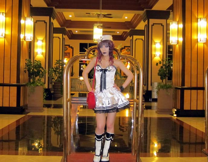 buy halloween costumes online, white sailor paris, sailor girl costume, discount halloween costumes, sexy womens costumes, cosplay outfits, sailor hat, alice and the pirate boots, purple hair, emo goth hair color, hairstyle photos gothic, pin up sailor girl, senor frogs mazatlan, mexico nightlife, mexican clubs