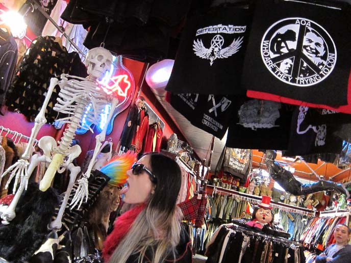 SEARCH AND DESTROY: NEW YORK PUNK CLOTHING & ACCESSORIES STORE, ST MARKS NYC ALTERNATIVE SUBCULTURE BOUTIQUE. secondhand clothes nyc, best thrift stores new york, manhattan vintage, east village shopping guide, New york goth clothes, gothic clothing stores nyc, new york, st marks place, punk clothes, bright hair dye, manic panic, trash and vaudeville, crazy clothes new york, japanese clothing stores nyc, coolest stores in the world
