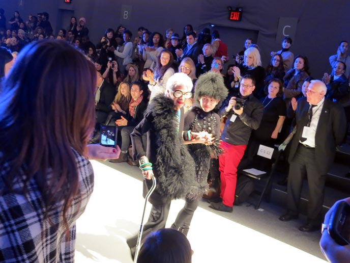 ZELDA KAPLAN DIES, FRONT ROW OF JOANNA MASTROIANNI RUNWAY SHOW. IRIS APFEL, NEW YORK FASHION WEEK ICON, ny fashion week 2012, february 2012, lincoln center, fashion icon faints dies, death zelda kaplan, gloomth, sweet lolita dress, cute lolitas, cute japanese lolis, vampire fashion, vampire makeup, fashion bloggers conference, how to get tickets to ny fashion week, mbfashionweek, mercedes benz fashion week, new york city fashion, runway shows, fashion show invites, invitations, blogger events, fashion blog collaborations