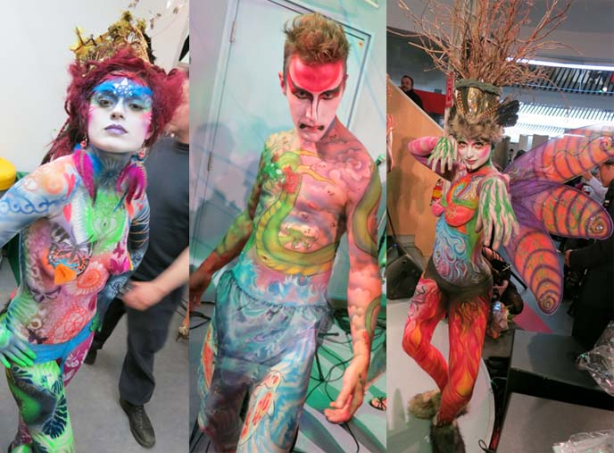 Bodypainting Competition Vancouver Art World Expo Airbrush Makeup Competition Bif Naked Artist Show La Carmina Blog Alternative Fashion Goth Travel Subcultures