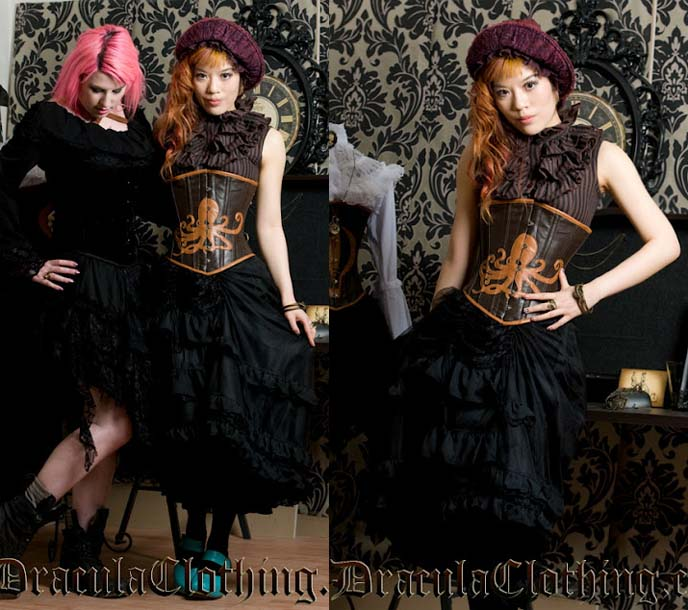 STEAMPUNK FASHION DRACULA CLOTHING ABSINTHE ICE CREAM PRAGUE BEST CZECH REPUBLIC GOTH