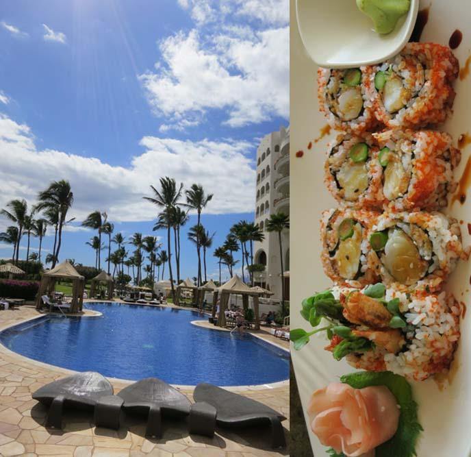 best maui hotels, maui hotel, top HAWAII HOTEL, FAIRMONT KEA LANI, WAILEA resorts, CHEF PANG OF KO, PLANTATION CUISINE RESTAURANT, ko restaurant review, maui travel tips, best restaurants maui, japanese food maui, private hawaii suites, hawaii beach villas, luxury travel, hawaii vacations, honeymoon getaways, hawaiian garden, nanette lepore, Hawaii fashion, nanette lepore dress, floral print dresses, sundress, flower hair crowns, flower hairpiece, flowers in hair, hawaii scenery, landscape, macrobiotic bento box, raw food, vegan food, hawaii vegetarian restaurants