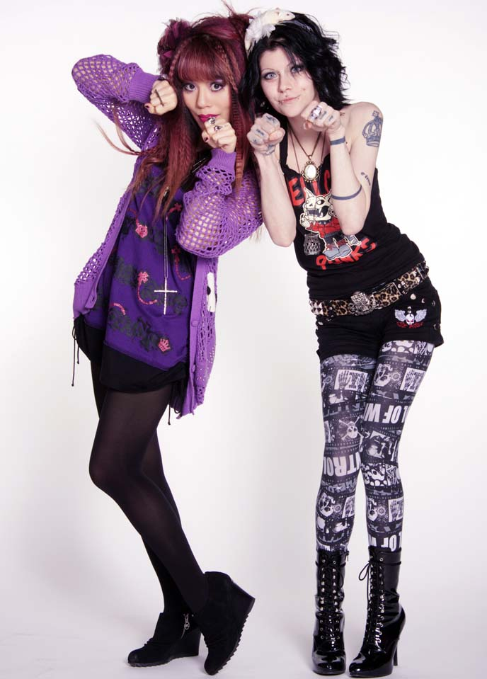 goth girl with tattoos, jrock style