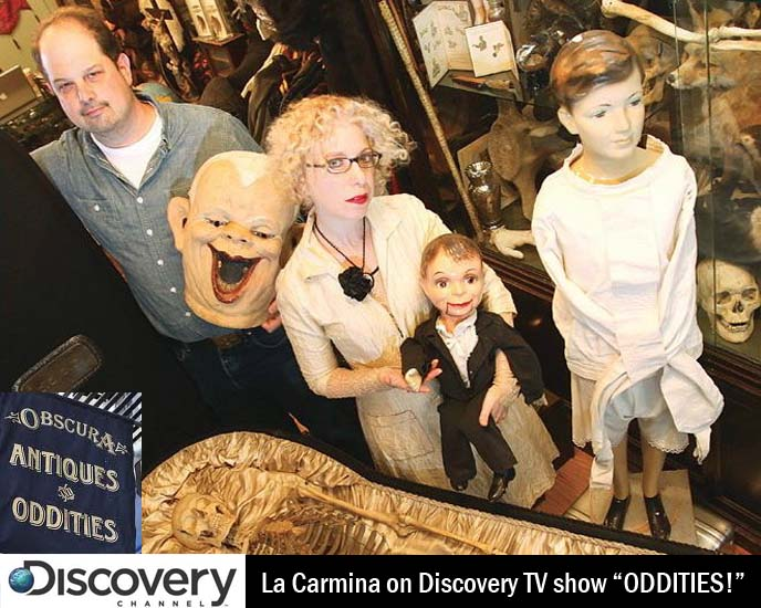 NYC BOUND! APPEARING ON ODDITIES, DISCOVERY CHANNEL TV SHOW: OBSCURA