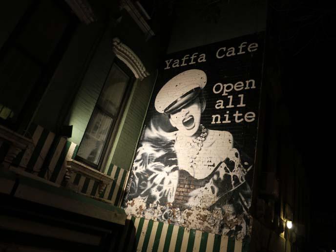 Yaffa Cafe, punk cafe new york, punk rock, St Mark's Place, nyc goth bars