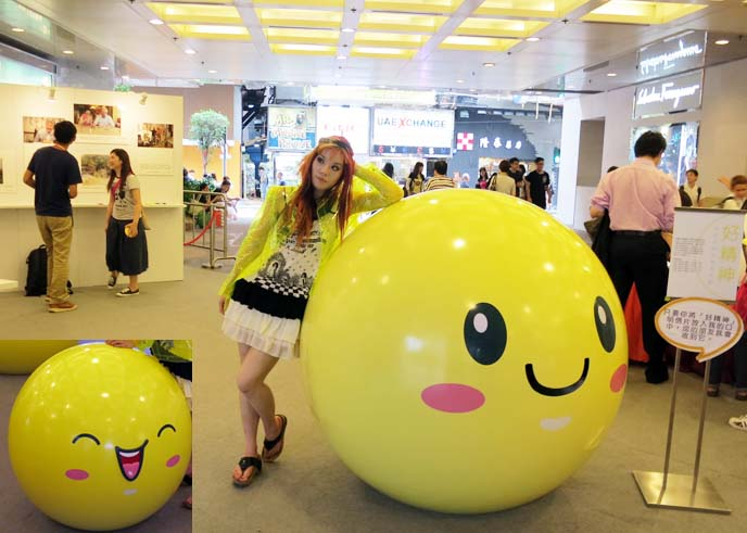 times square mall, times square causeway bay, happy face statue, hong kong style street style