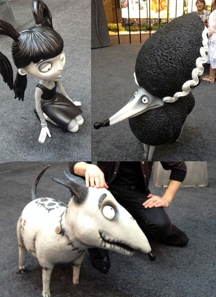 frankenweenie statue, hong kong display, hong kong art, causeway bay