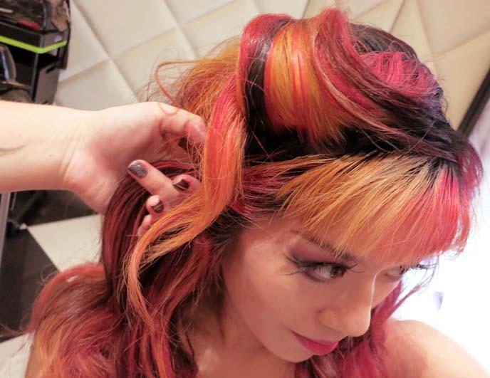 pin-up hair, curly romantic hair, hong kong fashion bloggers, toni and guy hong kong hair, it izzue, pinup curls hairstyle