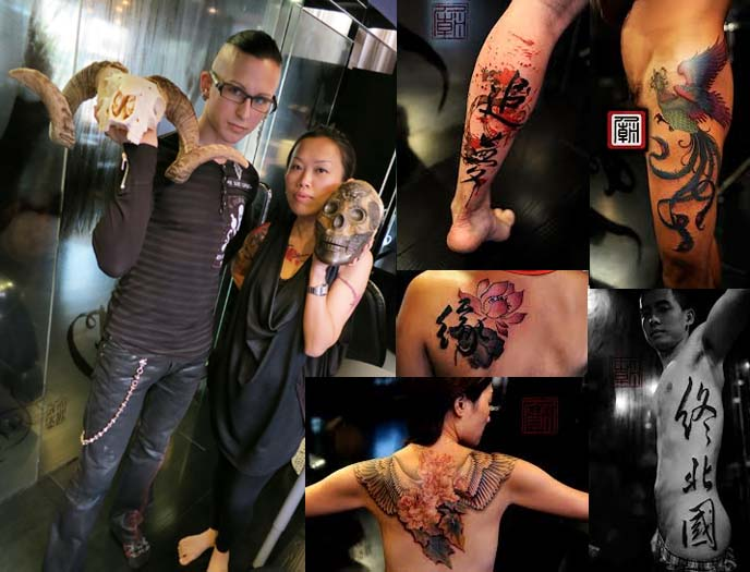 tattoo temple hong kong, joey Pang, calligraphy tattoos, chinese tattoo artist