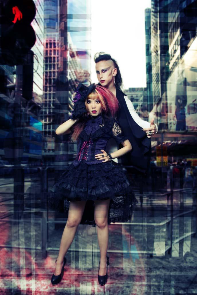 gothic fashion, goth modeling, alternative models, goth boy, goth male hairstyles, mohawk