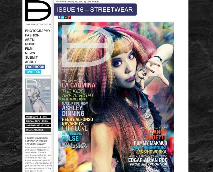 dark beauty magazine, goth magazine, gothic lolita photoshoot