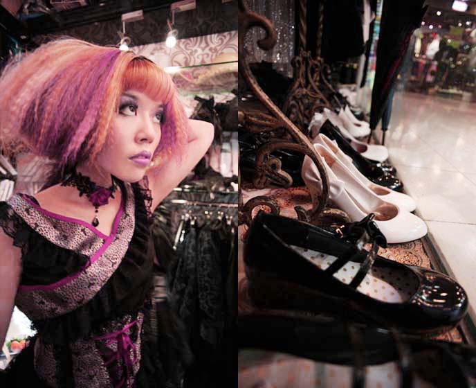 spider hong kong, where to buy goth clothes hong kong, cosplay goth lolita