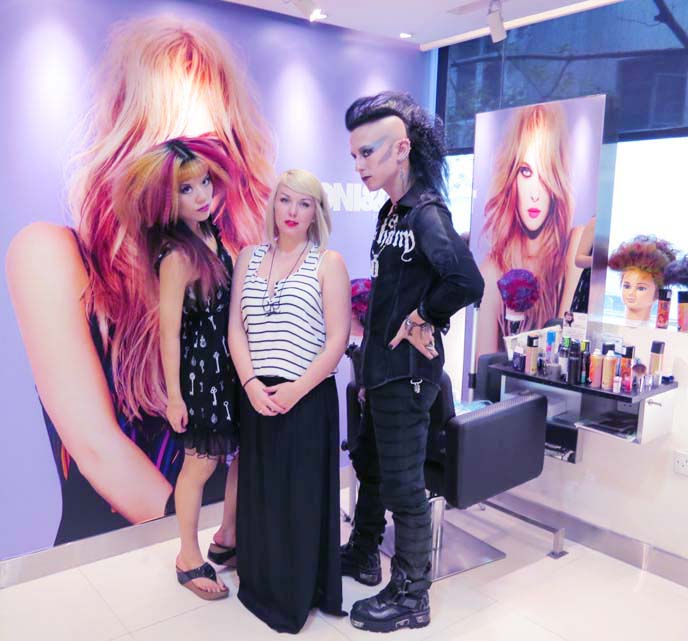 toni and guy hong kong, toni guy hair, deathrock hairstyle, goth hair