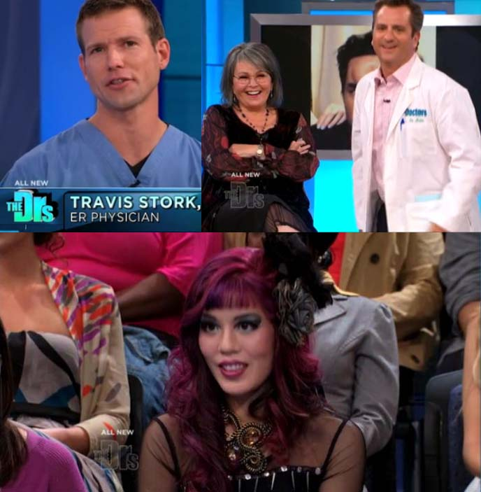 the doctors tv show, the drs tv, cbs the doctors, the drs, travis stork, lisa masterson, guest appearance, guest host, daytime tv, medical tv show, bagel heads, japanese bagelheads, bagelhead, la carmina tv host, tv hosting, bagel head, japan saline forehead inflation, medical tv show, medicine talk show, dr phil, paramount studios, los angeles tv studio audience, la talk show tickets, cbs television