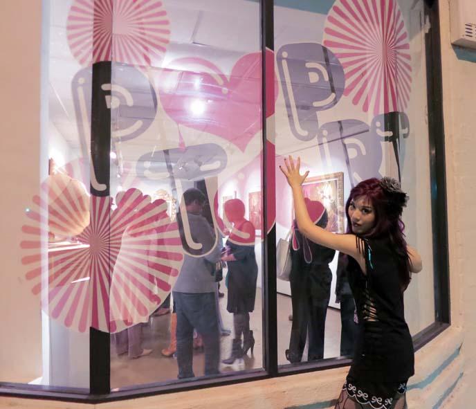 Pop tART Gallery Los Angeles: alternative art of Franz Szony, alternative art scene la, experimental art gallery, phyllis navidad, pop culture art gallery, conceptual photographer, art nouveau corset, lgbt art, underground art exhibition, los angeles art events, Crazy Hook pirate bar Koreatown, cat Furminator video.