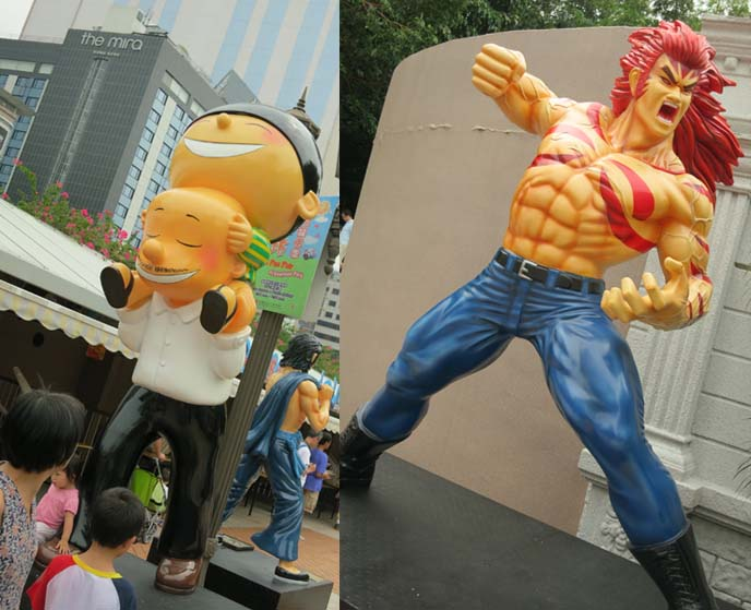 old master q, 老夫子, Hong Kong Avenue of Comic Stars, Kowloon Park manga, anime, cartoon statues, Chinese comics characters, Avenue of Comic Stars HK, Old Master Q, Tiger and Dragon Heroes, mcmug pig, sad panda, crying panda, panda bear statue, 星光大道, 香港漫畫星光大道, chinese comic book characters, kowloon park statues, comic art, hong kong statues