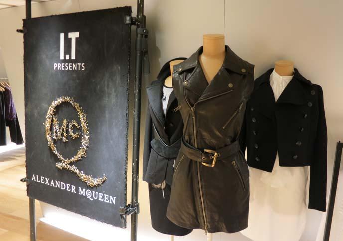 alexander mcqueen jacket, mcqueen hong kong, leather dress, hong kong designer clothing