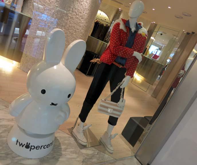 Miffy clothing, TwoPercent Hong Kong, cute bunny dress, bunny tshirt, Causeway Bay shops, hello kitty acccessories