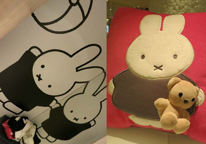 Miffy and bear, miffy toys, Hello Kitty clothes, sanrio clothing collaboration, hello kitty acccessories