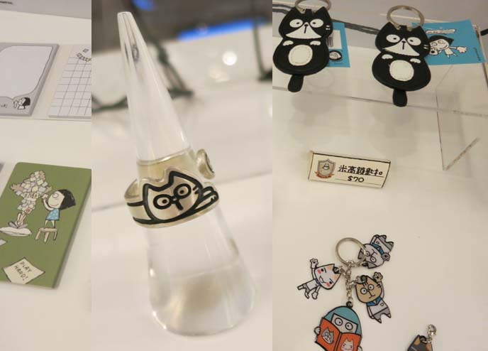 Cute cat ring, silver cat rings, Toro Mandycat, cute hong kong stores