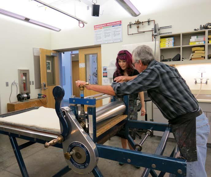 pochoir, printmaking, printmaker, etching press, art video
