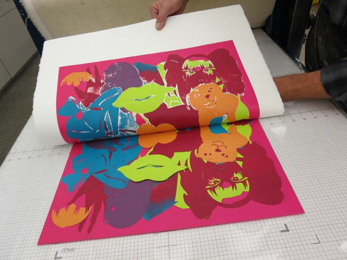 david manje, printmaker, etching press, art workshop, mesa arizona artists, colorful prints, modern print making