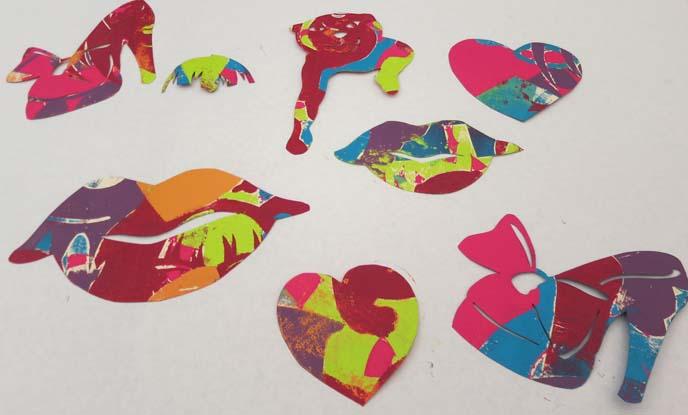 mesa art class, phoenix arizona art lessons, printmaking teacher, pochoir prints, anime, manga