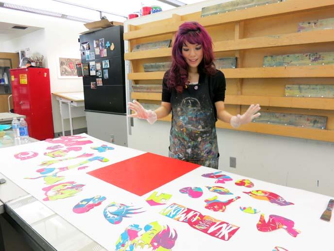 pochoir, printmaking, mesa arts center, david manje