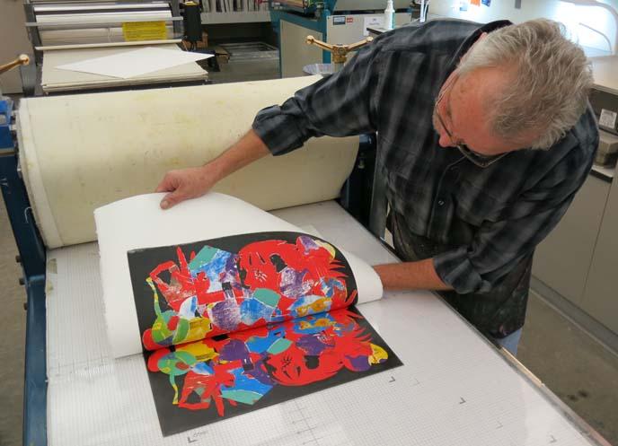 pochoir, printmaking, mesa arts center, david manje, printmaking workshop, art classes