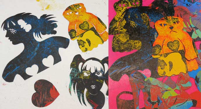 jpop art, arizona artists, art video, pochoir stencils, stencil printmaking, printmaker
