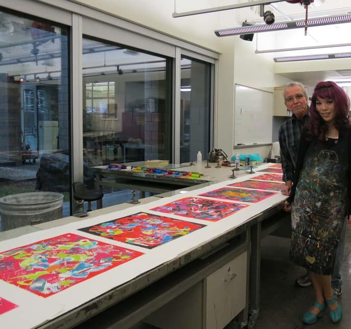 stencil prints, printmaking art