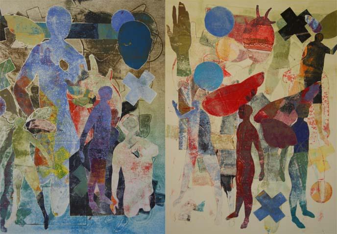 pochoir, printmaking, mesa arts center, david manje artist
