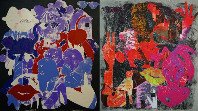 printmaker, japanese pop art, cat prints