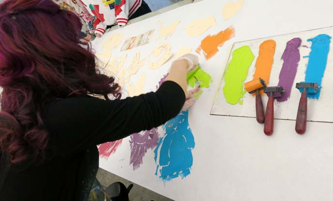 pochoir, printmaking, mesa arts center, david manje, art workshop, mesa arizona artists
