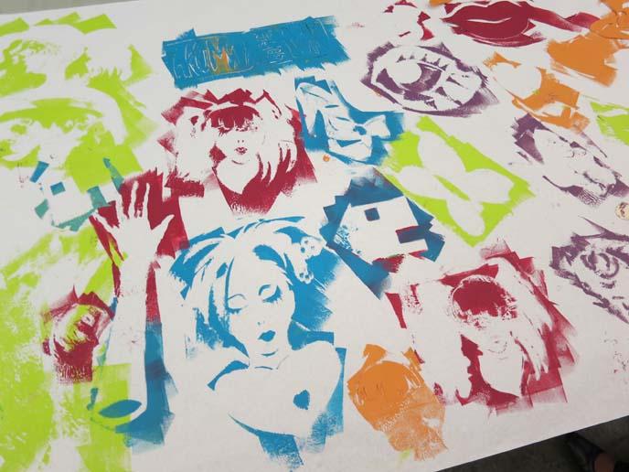 david manje, colorful stencils, pochoir, printmaking, printmaking workshop, art classes, mesa art class