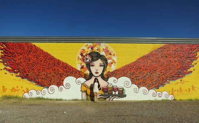 Angels Trumpet Ale House, angel mural, angel wings mural, downtown phoenix, roosevelt ro, roro murals