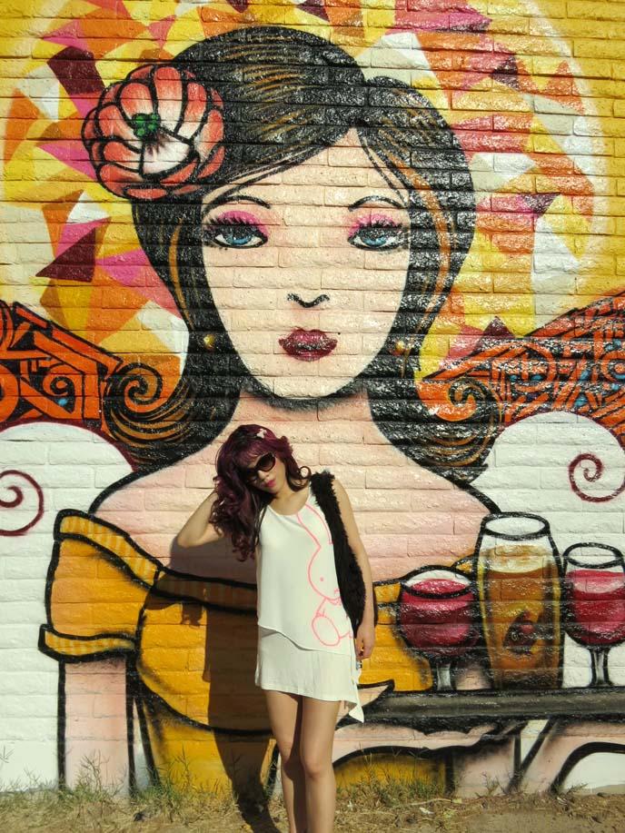 filmbar phoenix, Angels Trumpet Ale House, angel walls, angel girl mural, street style blog, westin downtown phoenix murals