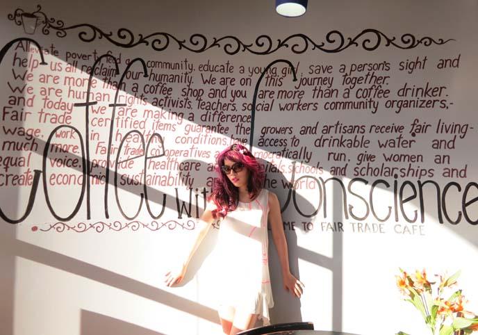 scene queen, emo, goth modeling, roosevelt row murals