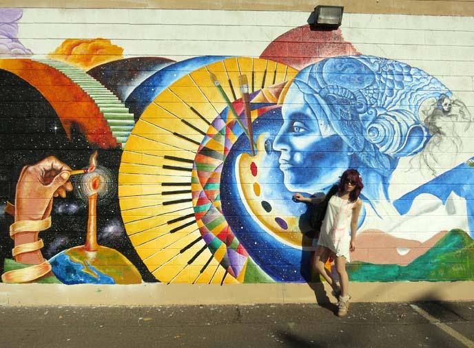 roosevelt row murals, phoenix arizona mural, westin downtown phoenix hotel, cool wall art, big colorful murals
